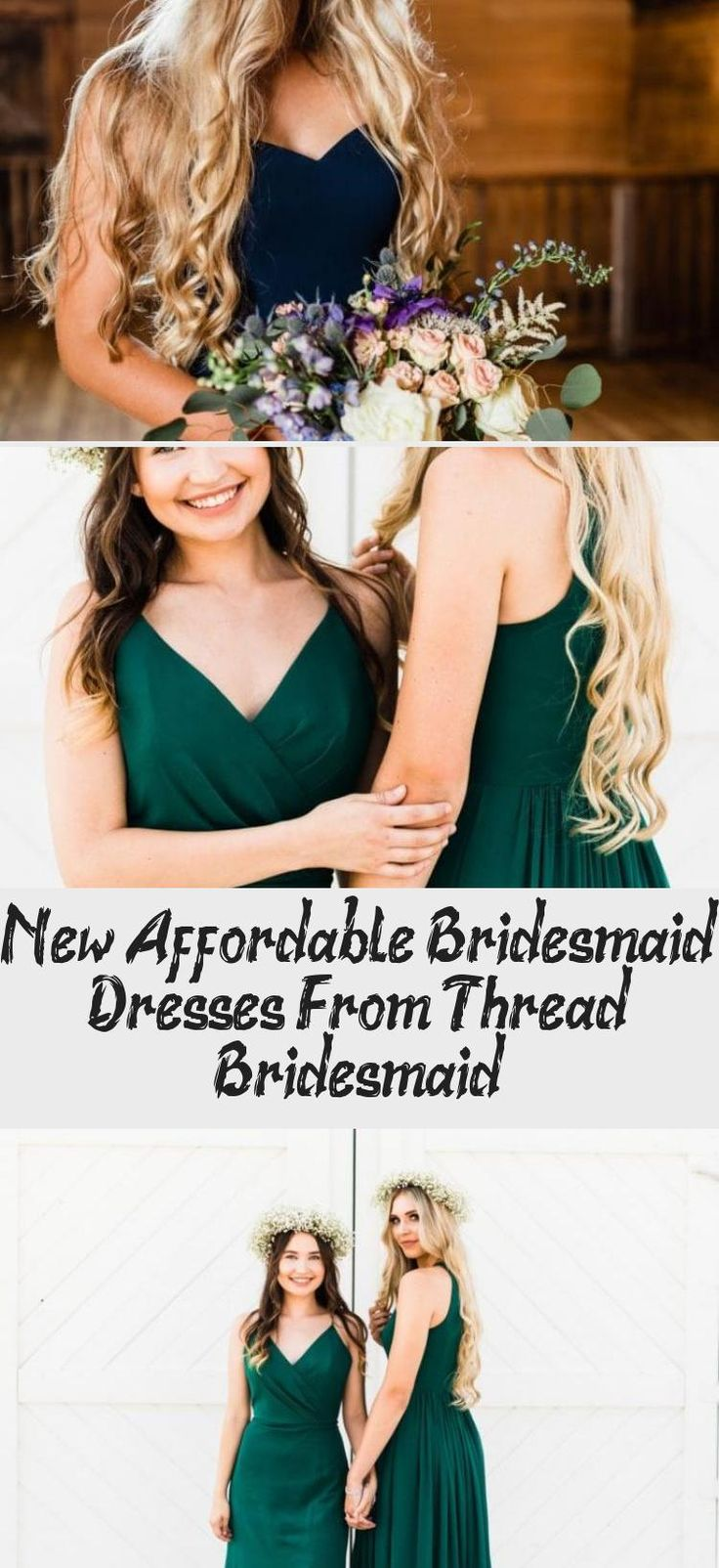Light blue boho style affordable dresses for bridesmaids from Thread Bridesmaid! #bridesmaids #bridesmaid #bridesmaiddresses
