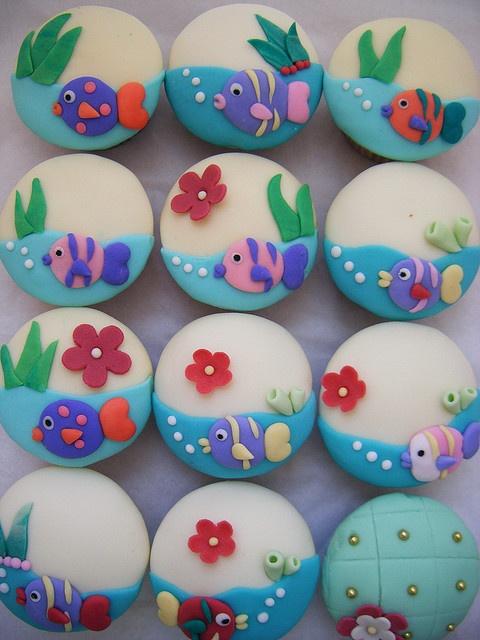 tapas de alfajor para roci sirenita Cupcakes