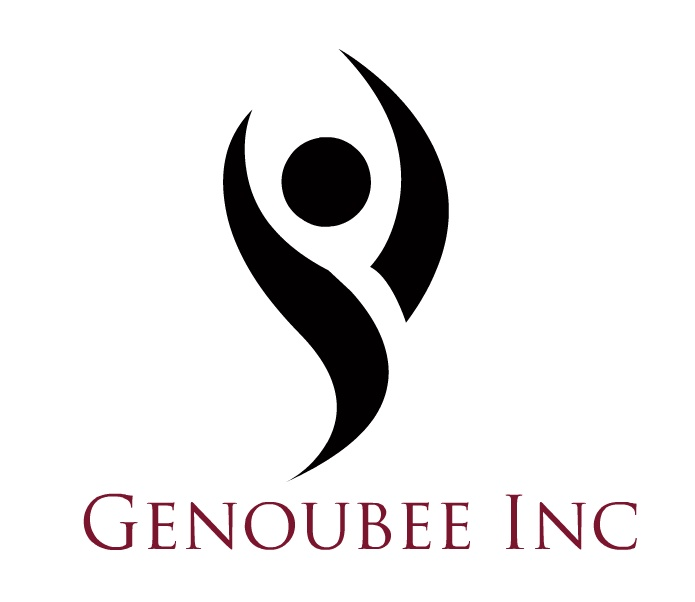 My first company logo, for Genoubee Inc, Dance and Fitness Studio, 'Where it's all about YOU!' tee-hee, I love this place!!!