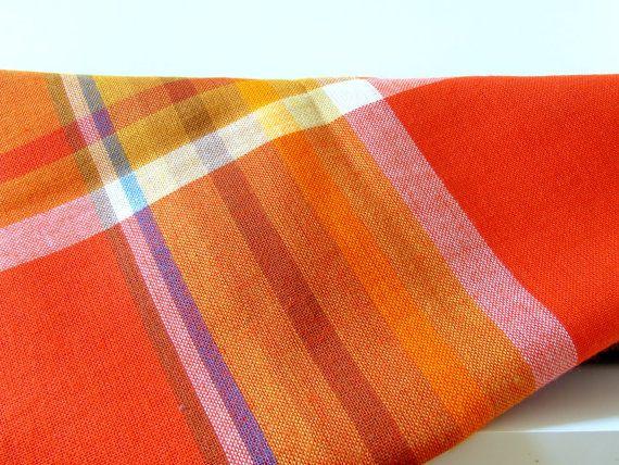 Scandinavian Tablecloth  Burnt Orange and by thelittleblackhouse, kr155.00