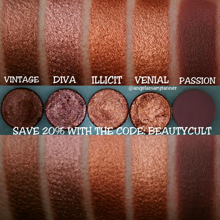 DEVINAH COSMETICS SWATCHES: EYESHADOWS, HIGHLIGHTERS and a DISCOUNT CODE