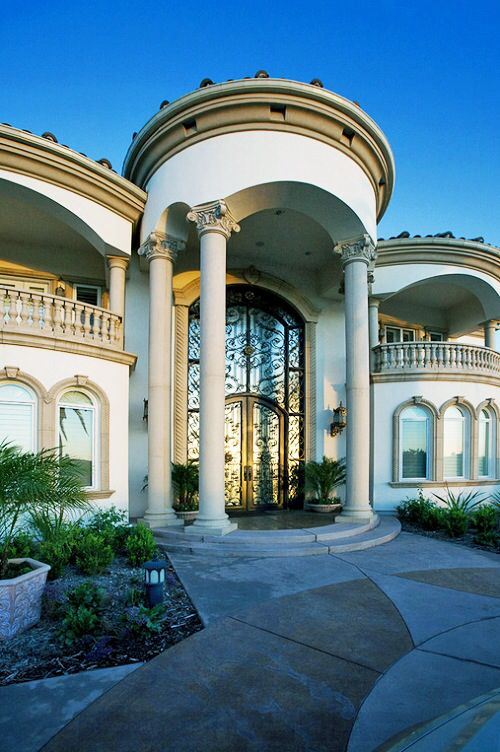 Front Elevation Of House With Pillar : Best architectural designs columns arches pillars