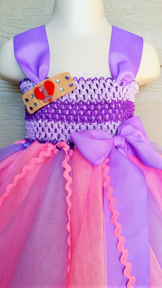 Doc Mcstuffins inspired tutu dress First by Shiningstarstore