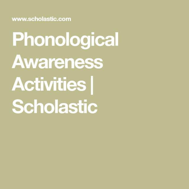 Phonological Awareness Activities | Scholastic