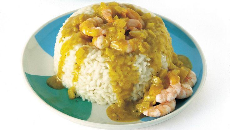 Riso al curry con gamberi ricetta