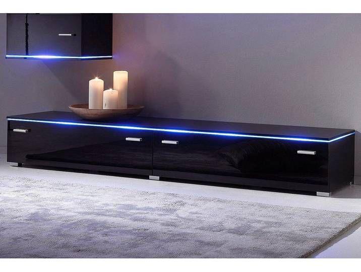 Tv Board Happy Breite 110 Cm Neckermann Schwarz In 2020 Tv Hifi Mobel Wohnzimmer Tv Lowboard