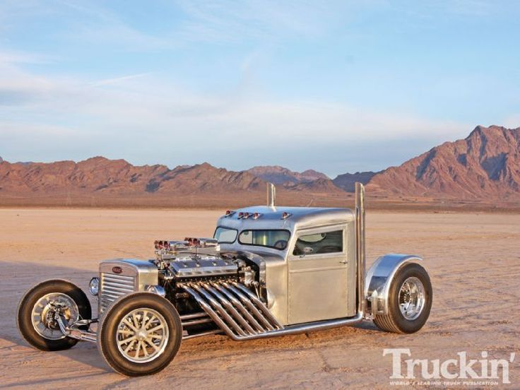 Custom peterbilt with a 12 cylinder, 71 series, Detroit diesel, 2 stroke. It runs two super chargers, and sounds mean as hell