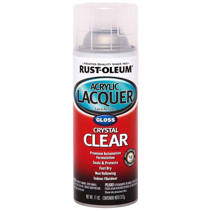 Rust-Oleum Automotive 12 oz. Clear Gloss Acrylic Lacquer Spray Paint (Case of 6)
