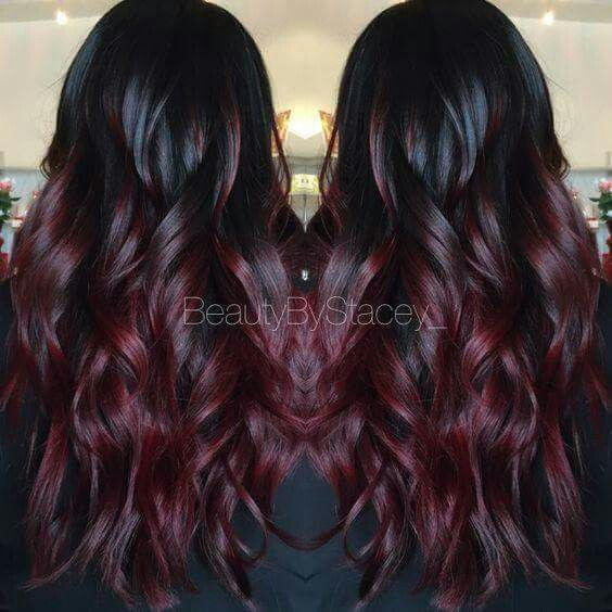 Red/black ombre.