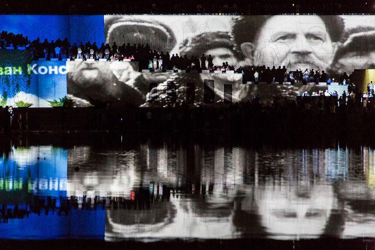 """Видео-инсталляция студии Dream Laser в рамках патриотической акции """"Свет Великой Победы"""" на здание музея заповедника """"Сталинградской Битвы"""" г.Волгоград 2016 г. #сталинградскаябитва #волград #деньпобеды #9мая #видеоинсталляция #dreamlaser"""