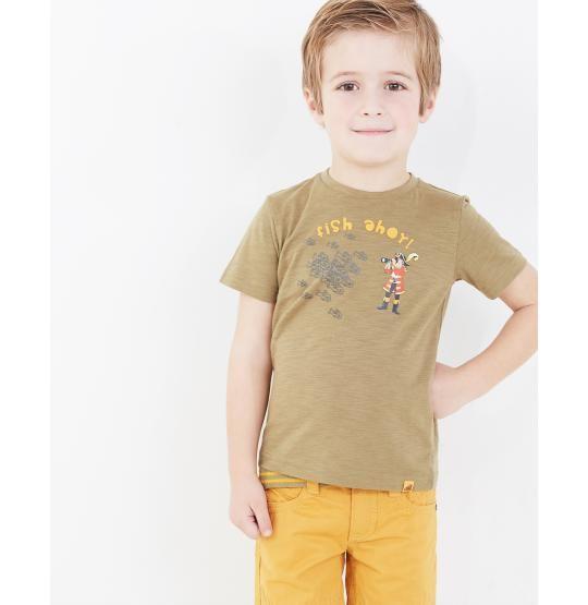 Kaki T-shirt Piet Piraat - JBC Webshop BE - NL