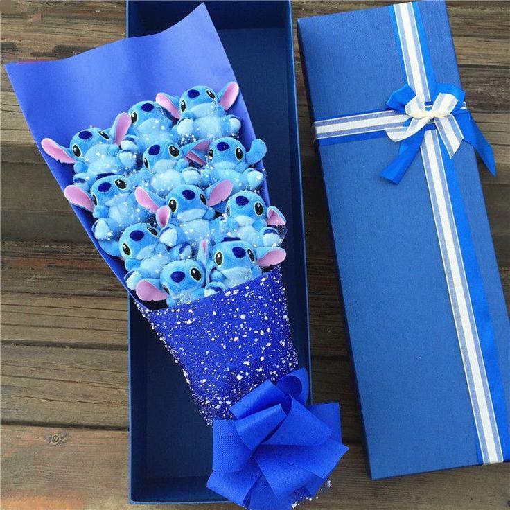 New Stitch Plush Toy Anime Lilo Stitch Bouquet Fake