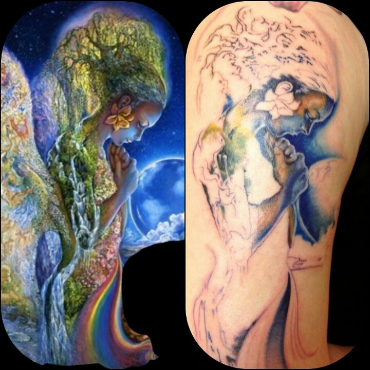 First session mother nature tattoo #tattoo #mothernature #awesometattoos #firstsession