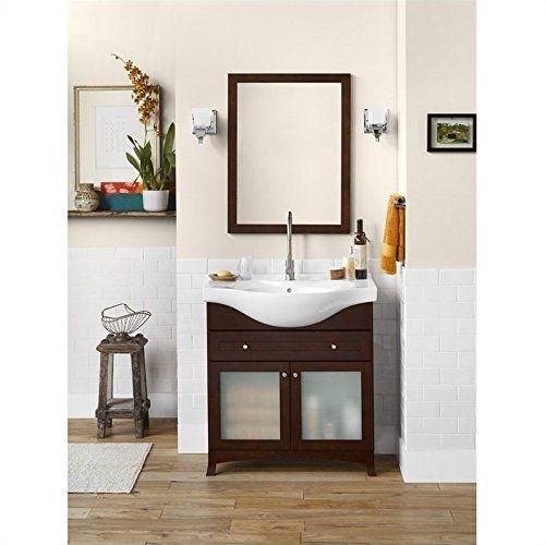 ronbow 053831 71 h01 adara 32 space saver bath vanity set dark cherry