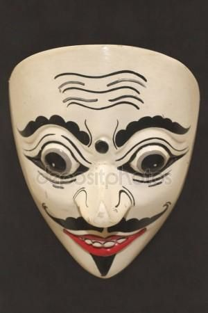 Javanese traditional puppet mask.
