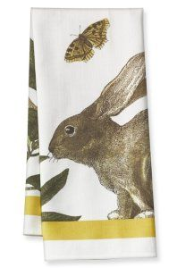 Bunny Botanical Print Towel from Williams-Sonoma