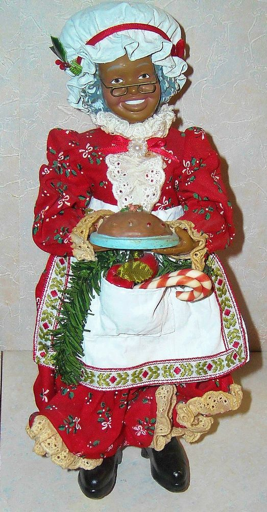 1994 Possible Dreams Clothtique African American Mrs Santa Figure