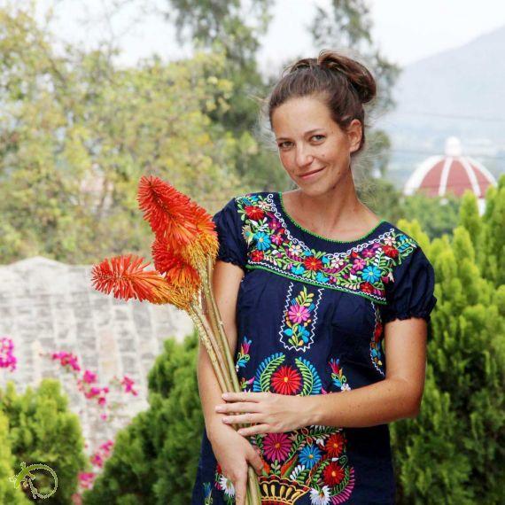LaCeiba-Arts   Kunsthandwerk aus Mexiko - Mexikanische Mode Mexikanische Tunika *FLORIDA* MFT-031