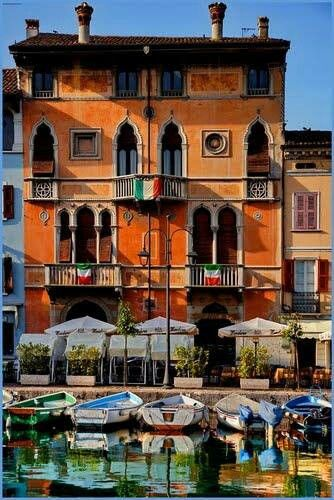 Desenzano, Garda Lake, Italy.  Great pizza here too! Of course!