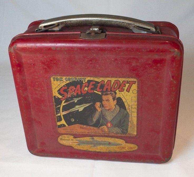 Vintage Aladdin Lunch Box & Thermos Space Cadet Tom Corbett Circa 1950s #Aladdin