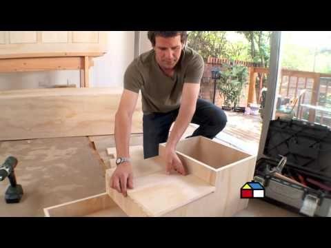 ¿Cómo hacer una cama modular infantil con cajoneras? - YouTube