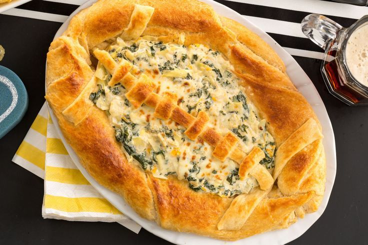 This Baked Football Bread Bowl Will Totally Score At Your Super Bowl Party  - Delish.com
