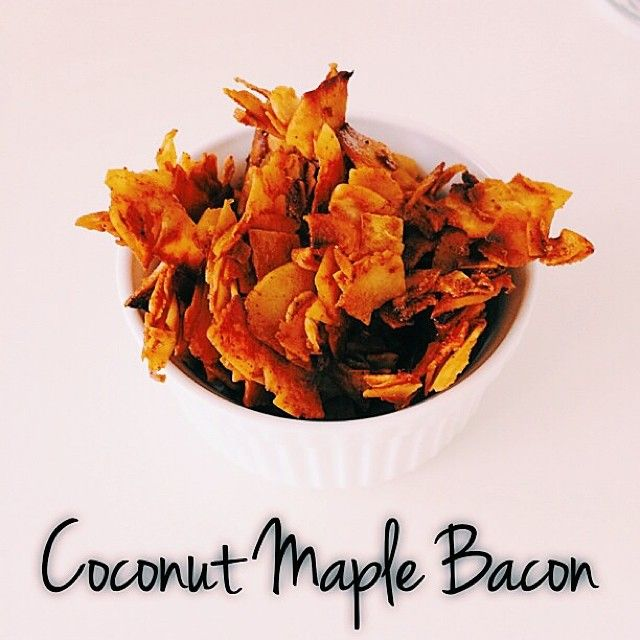 I may have just eaten the whole lot of this. Whoops.  Coconut Maple Bacon recipe now on the blog {soups, salads and sides}   Healthy, clea...