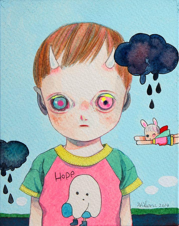 (Untitled) Camilla d'Errico / Hikari Shimoda: Niji Bambini show @ Cotton Candy Machine 10.10.14