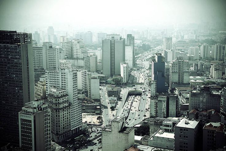 Sao Paulo Downtown aerial view, Brazil