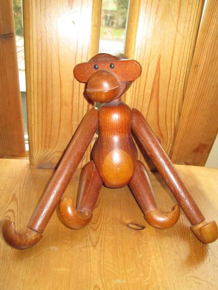 Original Kay Bojesen Affe Monkey Teak Denmark Danish SIGNIERT 19cm /26cm Vintage in Mobiliar & Interieur | eBay