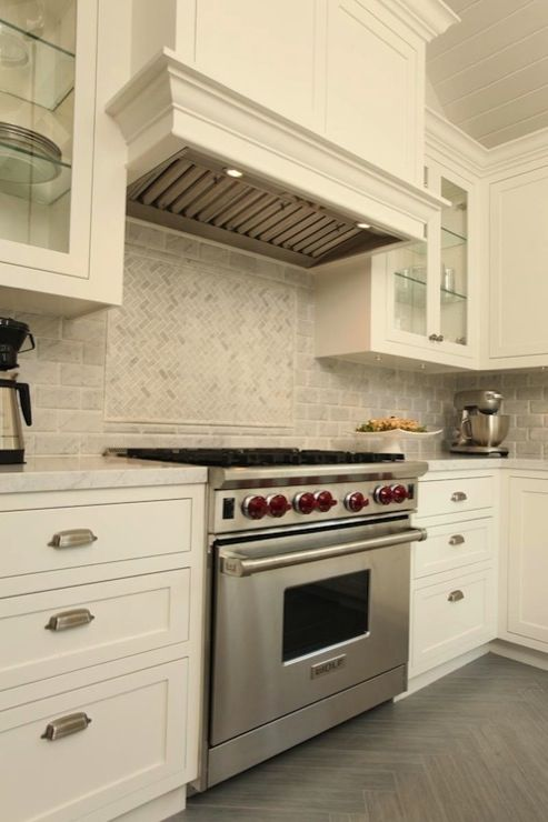 Suzie: Arch Interiors - Beautiful kitchen with ivory beadboard ceiling, ivory kitchen cabinets ...