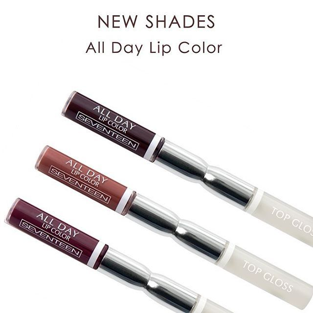 Our favorite Lipstick came in 3 new shades. Could you resist them?  #seventeencosmetics #alldaylipcolor #makeup #lipstick #lips #theartofbeauty