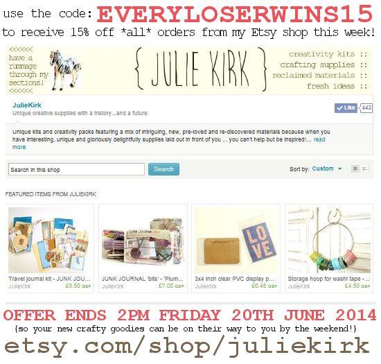 Shop discount code [ends 20th June 2014]