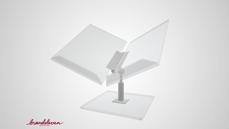 Open book display for libraries and museums. Leaf dimensions: 400(l) x 295(w) Base dimensions: 250(l) x 250(w) Adjustable height, angle and opening. Different sizes available.Contact for details.