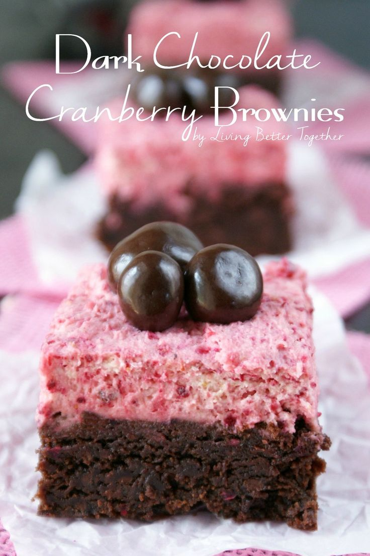 Dark Chocolate Cranberry Brownies   Living Better Together #shop #ad #LoveDoveFruit