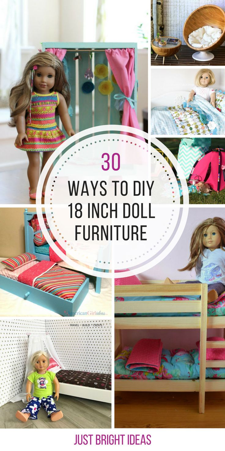 These homemade American Girl furniture ideas are GENIUS! Thanks for sharing!