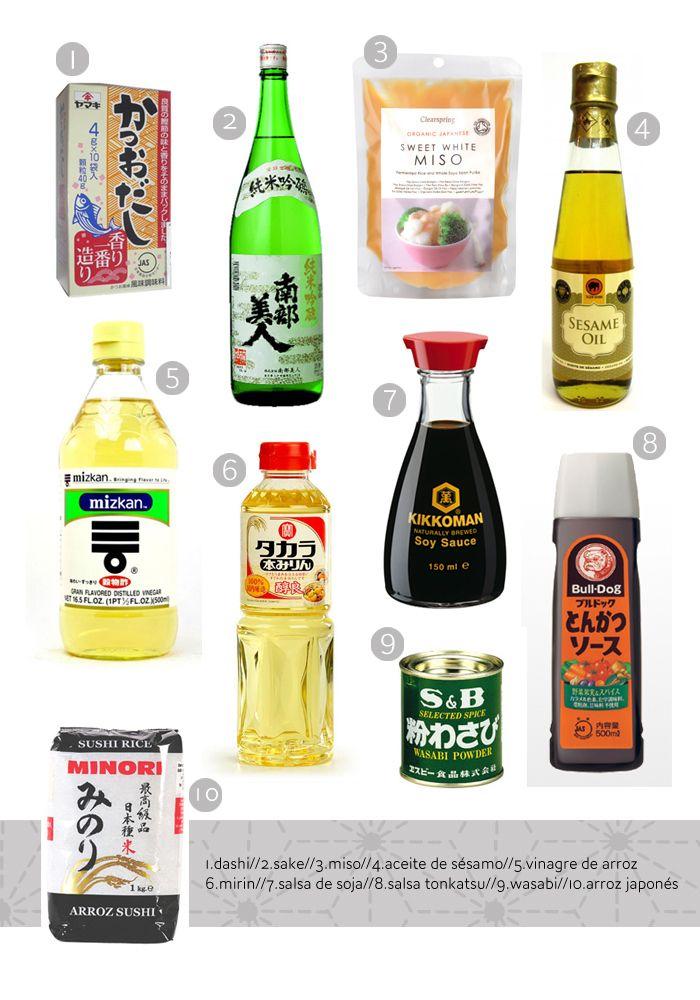 Cocina japonesa para principiantes. 1. Ingredientes Básicos