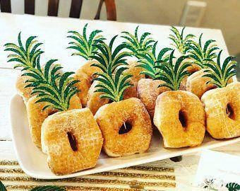 Ananas-Kronen-Lebensmittel-Pick, Donut-Ananas, Flamingo-Ananas-Topper, tropische…