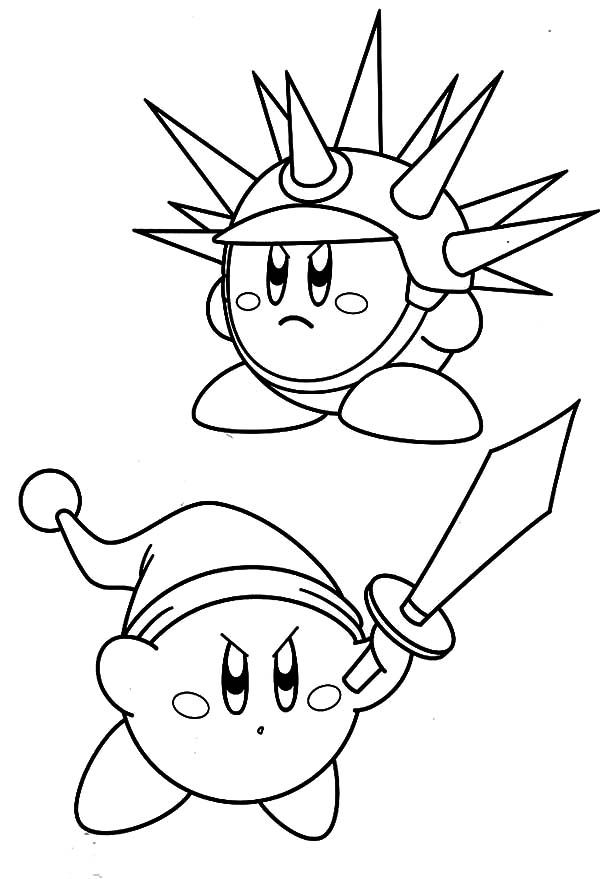 Sword Needle Kirby Coloring Pages Kids Play Color In 2020 Coloring Pages Coloring Books Cartoon Coloring Pages