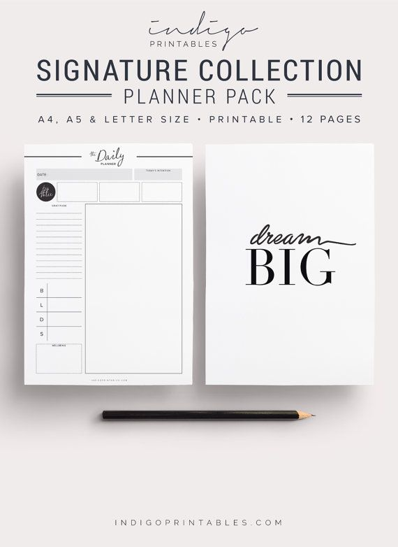 Signature Planner Pack Planner Kit Weekly by IndigoPrintables