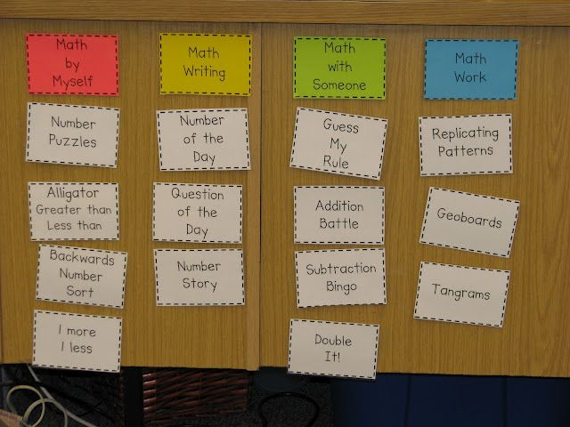 At last! A teacher doing Daily 5 math with some super ideas! :}