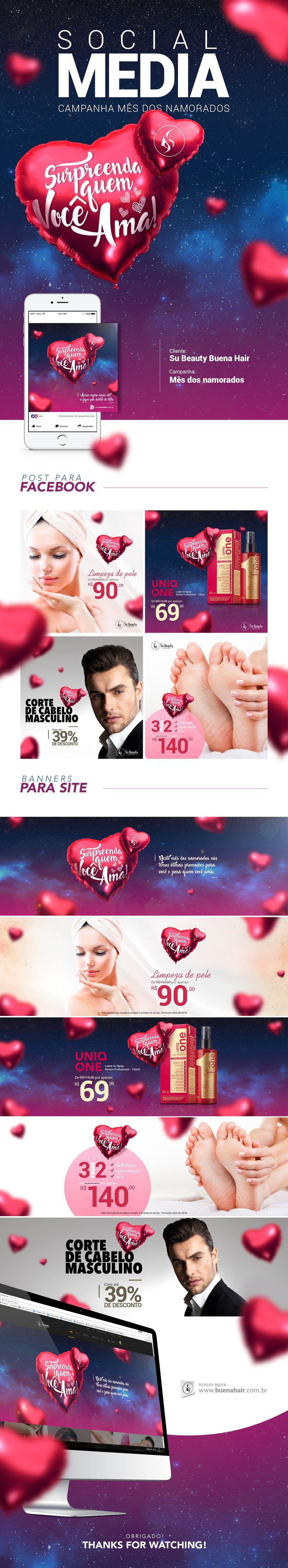 Rede Social Su Beauty Buena Hair - Mês dos namorados on Behance