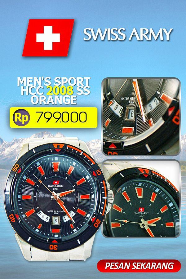 SWISS ARMY MEN'S SPORT SA HCC 2008 SS ORANGE  #jam tangan #toko belanja online fashion #toko online jam tangan #jam tangan swiss army #