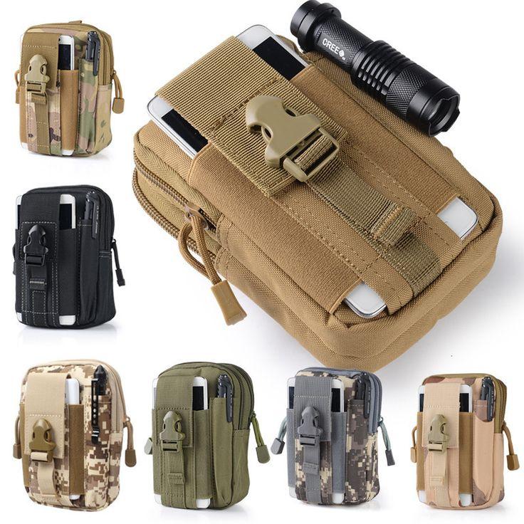 Universal Leinwand Holster Military Molle Hüfte Taille Packs Gürteltasche Mappenbeutelhandtasche Phone Cases Für iPhone Taschen Reißverschluss