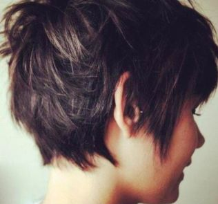 choppy hair. *I really like the back of this. And the unevenness)