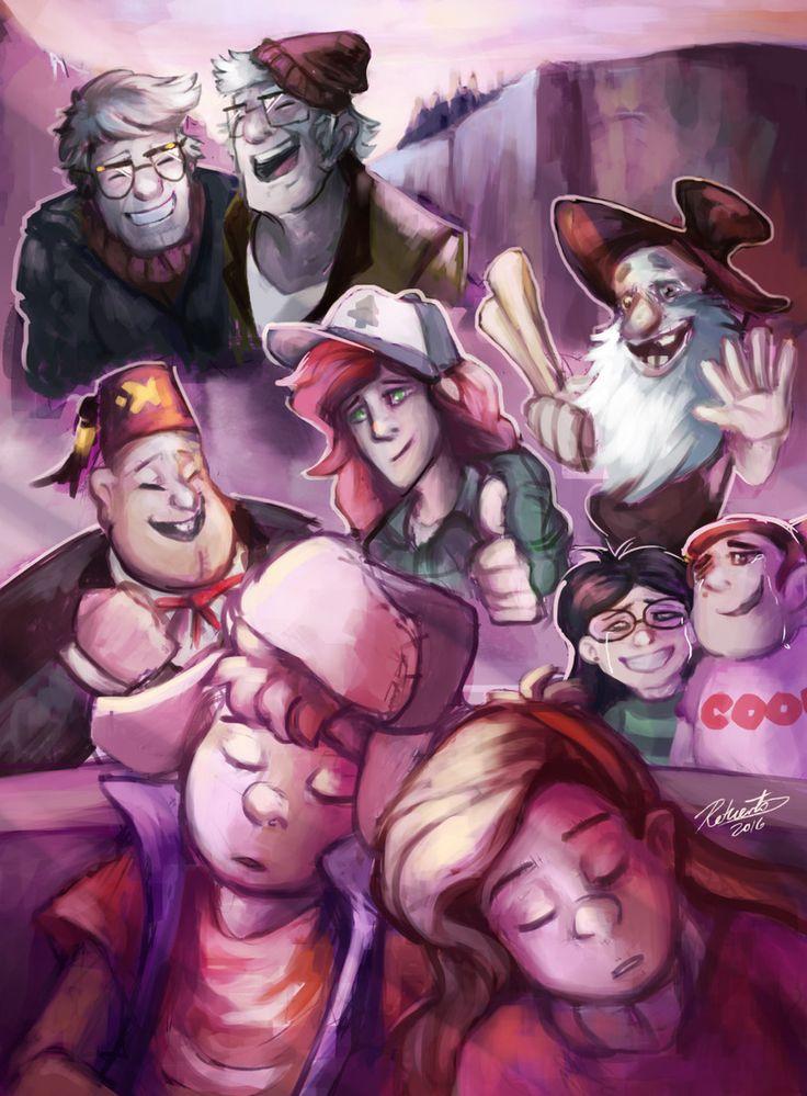 Gravity Falls,фэндомы,GF Персонажи,GF art,Dipper Pines,Mabel Pines,Stanley Pines,Stanford Pines,Wendy Corduroy,Soos,Old Man McGucket,Candy Chiu,Grenda