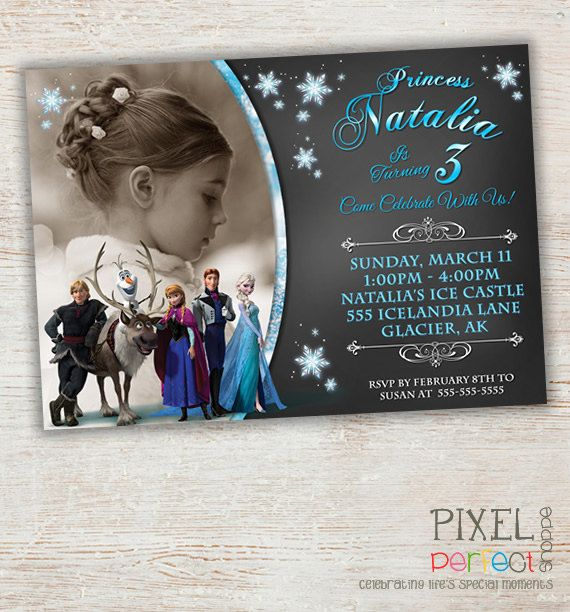 Frozen Birthday Invitation Frozen Birthday by PixelPerfectShoppe, $10.00