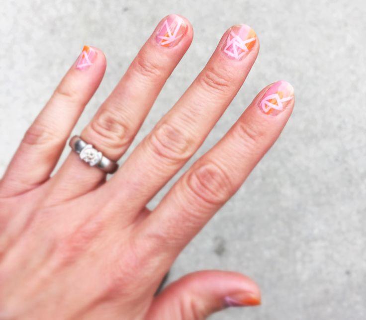 Pastel Geometric Nail Art - Parlor Diary . com