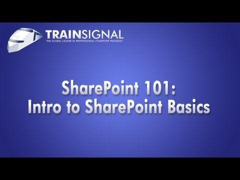 TrainSignal Webinar: Sharepoint 101: Introduction to SharePoint Basics
