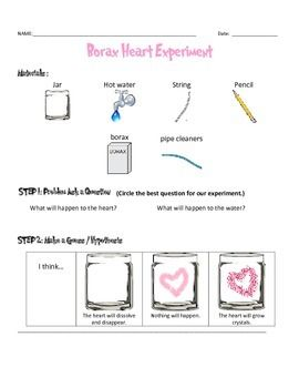 borax crystal heart experiment scientific method data sheet with pictures teacherspayteachers. Black Bedroom Furniture Sets. Home Design Ideas